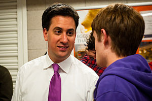 English: British politician Ed Miliband, Leade...