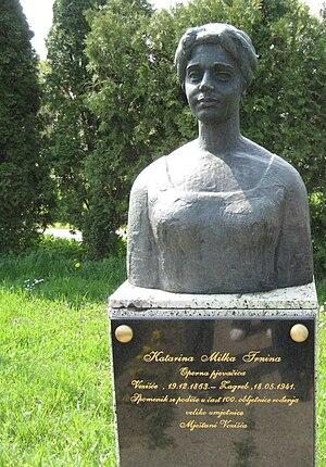Milka Ternina - Milka Trnina memorial in Vezišće