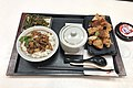 Minced pork rice and fried chicken set meal at Yonghe King Dongzhimen Store (20191221172758).jpg
