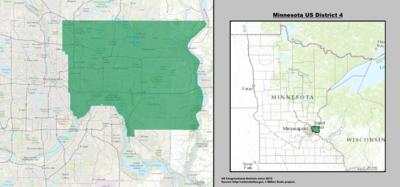 Minnesota's 4th congressional district - since January 3, 2013.