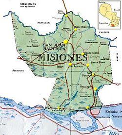 Location of San Juan Bautista Misiones