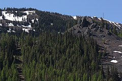 Chair 4 (left) at Mission Ridge Ski Area