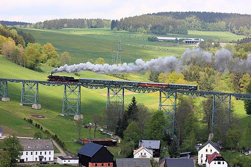 Erzgebirgische Aussichtsbahn: Mit Volldampf durch das Erzgebirge