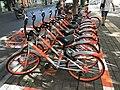 Mobikes in Huangzhou, Huanggang, Hubei, China 1.jpg