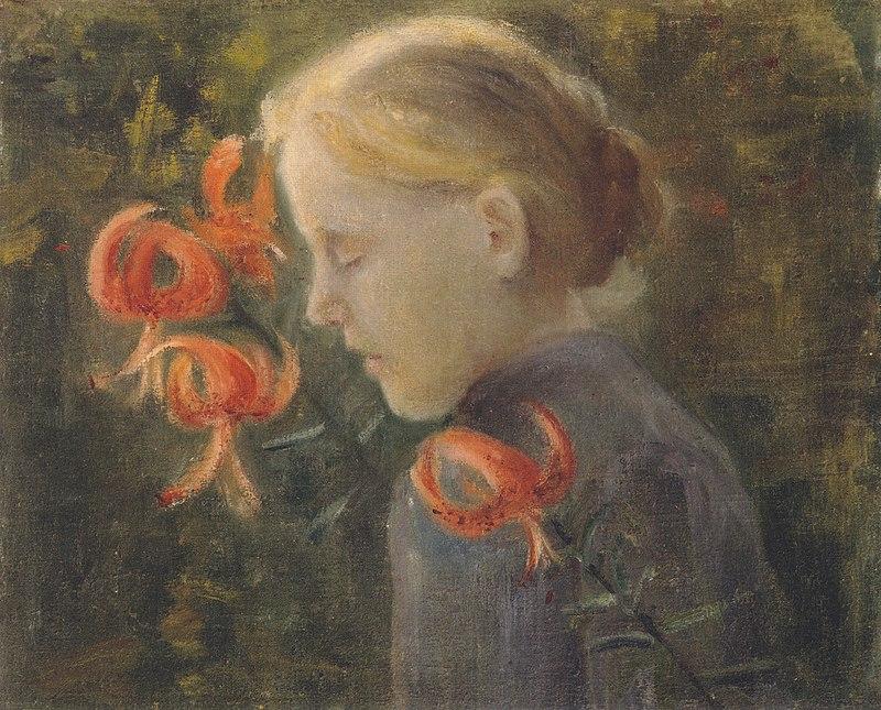 Modersohn-Becker - Mädchen mit Feuerlilien.jpeg