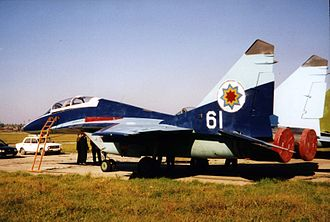 Armed Forces of the Republic of Moldova - A Moldovan MiG-29UB trainer in 1997.