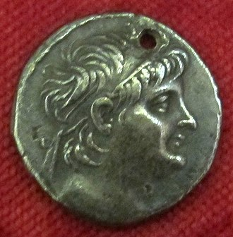 Alexander II Zabinas - Image: Monetiere di fi, moneta ellenistica argentea di alessandro II di siria, 124 123 ac