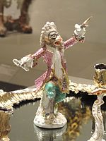 Monkey Band, c. 1765, Meissen Porcelain Manufactory, Germany, porcelain, enamel, gilding - Art Institute of Chicago - DSC09806.JPG