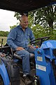 Montague County rancher Rooter Brite uses his tractor to help him with his brush management goals. (24993718822).jpg