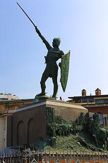 Il Monumento al Guerriero di Legnano, a cui si ispira il simbolo del partito. È spesso erroneamente associato ad Alberto da Giussano