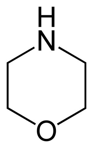 Oxazines - Image: Morpholine flat 2D skeletal