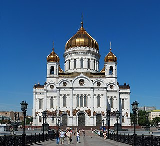 Cathedral of Christ the Saviour Church in Moscow, Russia