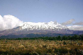 Mount Ruapehu - Mount Ruapehu, January 2002.