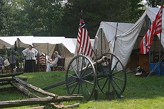 Mount Independence (Vermont) - Revolutionary War reenactors camp at Mount Independence