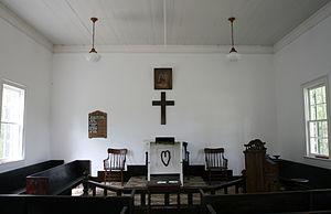 Baughman Settlement, West Virginia - The Interior of Mount Moriah Lutheran Church