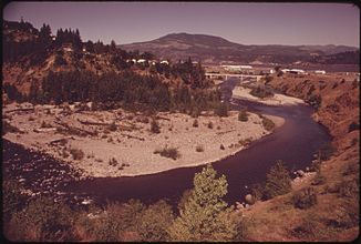 West Fork Hood River kurz vor der Mündung in den Columbia River (1973)