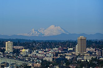 UW Tower - Image: Mt. Baker and UW Tower