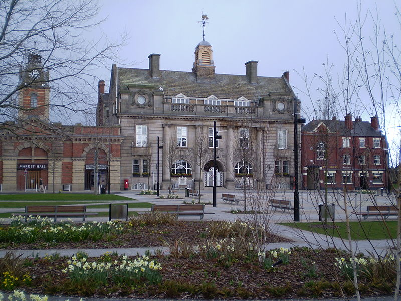 The Municipal Buildings, Crewe, main offices of Crewe and Nantwich Borough Council