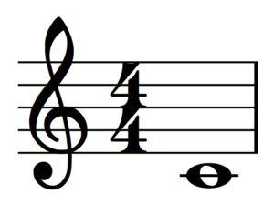 MusicXML - Representation of middle C on the treble clef created through MusicXML code.