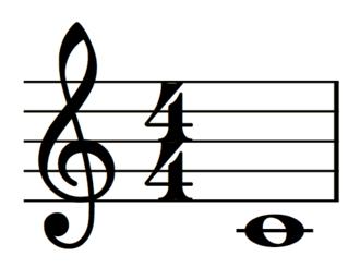 MusicXML - Representation of middle C on the treble clef created through MusicXML code.