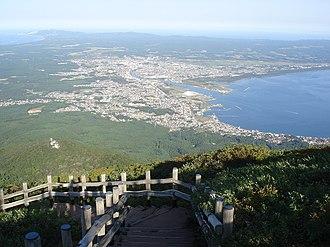 Mutsu, Aomori - Mutsu City from Kamafuse-yama