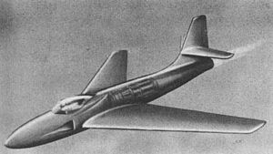 NACA duct - Artist's concept picture of a submerged inlet for a jet aircraft