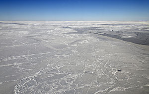 Weddell Sea - Scarred and chiseled sea ice in the Weddell Sea