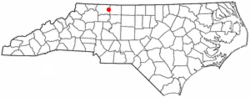 Location of Pilot Mountain, North Carolina