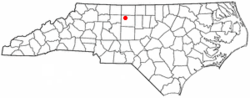 Location of Summerfield, North Carolina