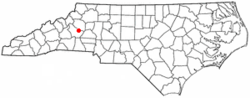 Location of Valdese, North Carolina