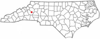 Valdese, North Carolina - Image: NC Map doton Valdese