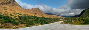 Gros Morne National Park - The Tablelands seen from Route 431