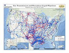 Pipeline And Hazardous Materials Safety Administration Wikipedia - Map of us oil pipelines