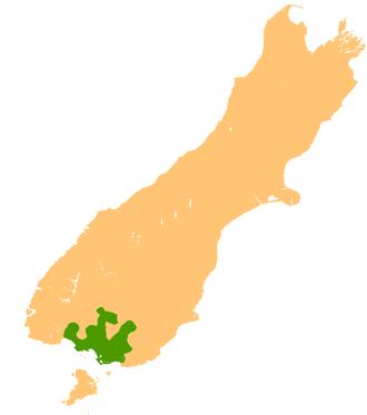 Southland Plains - Location of the Southland Plains