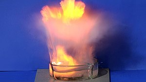Godman (India) - Image: Naatriumi reaktsioon veega purustab klaasist anuma
