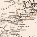 A fragment of Delafosse's (1904) linguistic map highlighting Nafaanra ('Nafana') in the borderland of Côte d'Ivoire and Ghana.