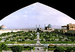 Imam Square,Naghshe Jahan Square, the biggest historic square in the world, in Isfahan was the symbolic center of the Safavid Empire