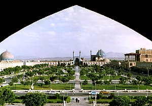 Charbagh - Naghsh-i Jahan square, the charbagh Royal Square (Maidan) in Isfahan, constructed between 1598 and 1629