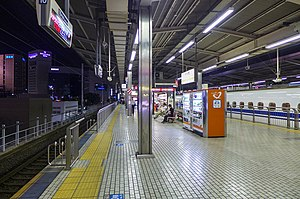 Nagoya Station - The Tokaido Shinkansen platform 16/17 in July 2014
