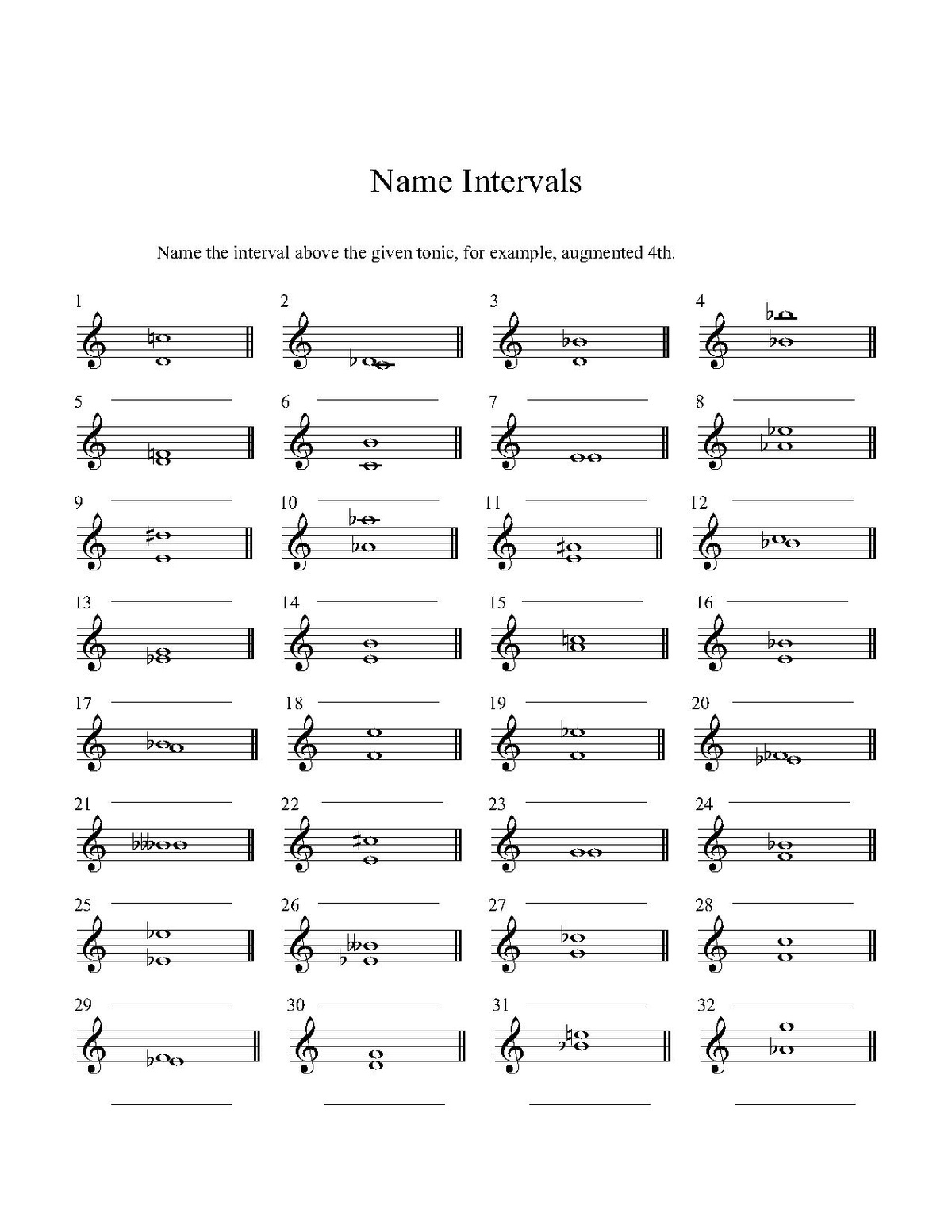 Harmony/Some Basic Concepts, The Major Scale, & Intervals ...