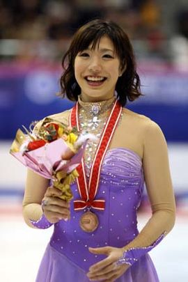 Nana Takeda Podium 2007 NHK Trophy.jpg