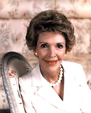 Official portrait of First Lady Nancy Reagan, ...