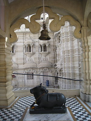 Chhatarpur Temple - Nandi at Shiva temple, Chhatarpur temple