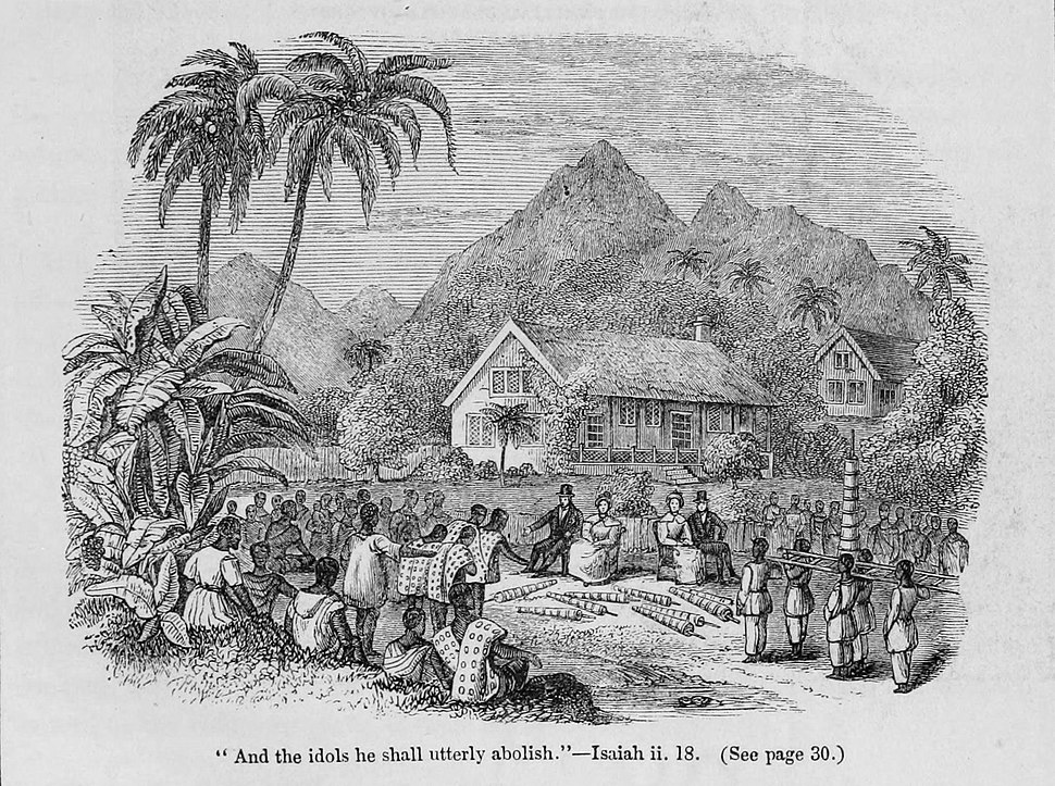Narrative of Missionary Enterprises engraving