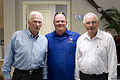 National Flight Academy 2010, Chip with Gene Cernan and Neil Armstrong.jpg