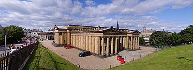 The National Gallery of Scotland, in Edinburgh, designed by William Henry Playfair and opened in 1859, is one of the National Galleries of Scotland, a public body funded by the Scottish Government Education Department. It is a Category A listed building.