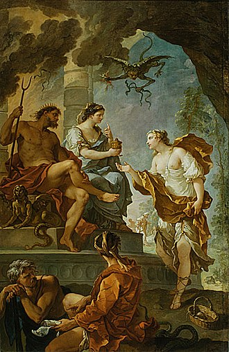 1735 in art - Image: Natoire Psyché et Proserpine