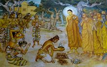 Painting of king planting tree.