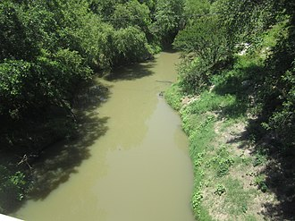 Navasota River - The Navasota as it separates Leon and Robertson counties in east Texas