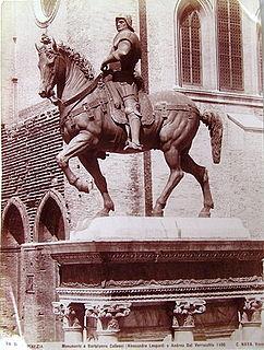 sculpture by Andrea del Verrocchio in Venice, Italy